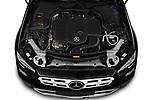 Car Stock 2021 Mercedes Benz E-Class All-terrain-Avantgarde 5 Door Wagon Engine  high angle detail view