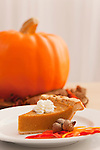 USA, Illinois, Metamora, Slice of pumpkin pie