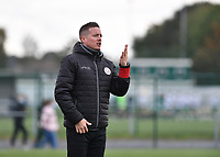 Essevee's head coach Angelo Gaytant pictured during a female soccer game between Club Brugge Dames YLA and Zulte Waregem Ladies on the third matchday of the 2020 - 2021 season of Belgian Scooore Womens Super League , saturday 3 October 2020  in Brugge , Belgium . PHOTO SPORTPIX.BE | SPP | DAVID CATRY