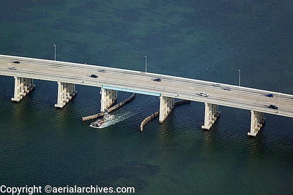 aerial photograph Rickenbacker Causeway Miami, Florida