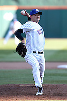 Buffalo Bisons pitcher Mike O'Connor #54 delivers a pitch during a game against the Syracuse Chiefs at Dunn Tire Park on April 7, 2011 in Buffalo, New York.  Syracuse defeated Buffalo 8-5.  Photo By Mike Janes/Four Seam Images