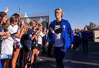 PASADENA, CA - AUGUST 3: Emily Sonnett #14 enters the stadium during a game between Ireland and USWNT at Rose Bowl on August 3, 2019 in Pasadena, California.