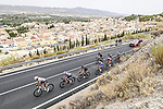 The breakaway during Stage 9 of La Vuelta d'Espana 2021, running 188km from Puerto Lumbreras to Alto de Velefique, Spain. 22nd August 2021.    <br /> Picture: Unipublic/Charly Lopez   Cyclefile<br /> <br /> All photos usage must carry mandatory copyright credit (© Cyclefile   Charly Lopez/Unipuplic)