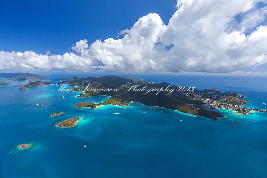 Aerial image of St. John<br /> US Virgin Islands