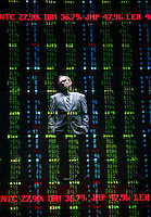 "Norbert Leo Butz as CEO Jeffrey Skilling in ""Enron"".  Broadhurst Theatre, W. 44 St., NYC.  Photo by Ari Mintz, 4/7/10"