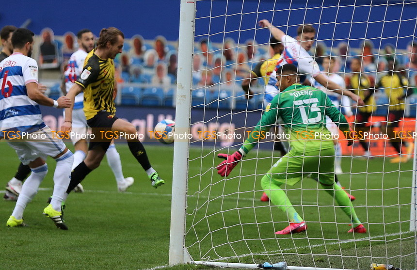 first goal scored for Watford by Ben Wilmot of Watford during Queens Park Rangers vs Watford, Sky Bet EFL Championship Football at The Kiyan Prince Foundation Stadium on 21st November 2020