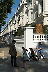 Holland Park London W11. Mansions belonging to some of the riches people in Britain.