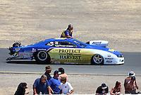 Jul. 28, 2013; Sonoma, CA, USA: NHRA pro stock driver Rodger Brogdon during the Sonoma Nationals at Sonoma Raceway. Mandatory Credit: Mark J. Rebilas-