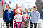 Enjoying their ice cream in Knocknagoshel on Friday at the family fun day.<br /> Front l to r: Ellen and Grace O'Donnell, Jack, Cathal and Sean McElligott and Peggy Dennison.