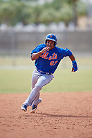New York Mets Enmanuel Zabala (67) running the bases during a minor league Spring Training game against the St. Louis Cardinals on March 28, 2017 at the Roger Dean Stadium Complex in Jupiter, Florida.  (Mike Janes/Four Seam Images)
