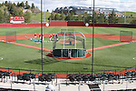 A view from the press box of Bailey-Brayton Field, the baseball home of the Washington State Cougars baseball team, on the campus of Washington State University in Pullman, Washington.