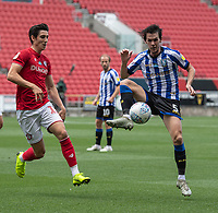 Sheffield Wednesday's Kieran Lee (right) under pressure from Bristol City's Callum O'Dowda (left) <br /> <br /> Photographer David Horton/CameraSport<br /> <br /> The EFL Sky Bet Championship - Bristol City v Sheffield Wednesday - Sunday 28th June 2020 - Ashton Gate Stadium - Bristol <br /> <br /> World Copyright © 2020 CameraSport. All rights reserved. 43 Linden Ave. Countesthorpe. Leicester. England. LE8 5PG - Tel: +44 (0) 116 277 4147 - admin@camerasport.com - www.camerasport.com