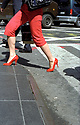Girl in Red Shoes and trousers  in Manhattan   in New York 2007 CREDIT Geraint Lewis
