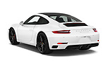 Car pictures of rear three quarter view of a 2018 Porsche 911 Carrera S 2 Door Coupe angular rear