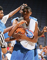 PF Kevin Jones (Mount Vernon, NY / Mount Vernon) holds the ball during the NBA Top 100 Camp held Friday June 22, 2007 at the John Paul Jones arena in Charlottesville, Va. (Photo/Andrew Shurtleff)