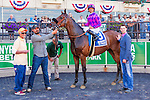 New York, NY - JUNE 18: Obviously (IRE), #3  with Jose Lezcano aboard. wins the Poker Stakes at Belmont Park on June 18, 2016, in Elmont, NY. (Photo by Sue Kawczynski/Eclipse Sportswire/Getty Images)