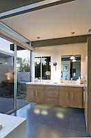 Stock photo of mid-century modern bathroom Stock photo of master bath, en suite, bathroom