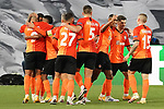 FC Shakhtar Donetsk's players celebrate goal during UEFA Champions League match. October 20,2020.(ALTERPHOTOS/Acero)