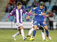 Getafe's Abdel Barrada (r) and Real Valladolid's Victor Perez during La Liga match.November 18,2012. (ALTERPHOTOS/Acero) NortePhoto