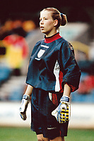 Rachel Brown of England in goal in front of a new British record crowd of 4,917 during England Women vs Germany Women, World Cup Qualifying Football at the New Den, Millwall FC, London, Britain on 8th March 1998