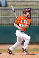 Buddy Sosnoskie #7 of the Virginia Tech Hokies follows through on his swing against the Wake Forest Demon Deacons at English Field March 27, 2010, in Blacksburg, Virginia.  Photo by Brian Westerholt / Four Seam Images