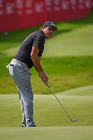 4th July 2021, Detroit, MI, USA;  Phil Mickelson (USA) watches his birdie attempt on 18 during the Rocket Mortgage Classic Rd4 at Detroit Golf Club on July 4,