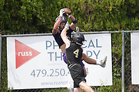 Fayetteville wide receiver Dylan Kittell makes a catch in the end zone, Thursday, July 15, 2021 during the Southwest Elite 7on7 tournament at Shiloh Christian in Springdale. Check out nwaonline.com/210716Daily/ for today's photo gallery. <br /> (NWA Democrat-Gazette/Charlie Kaijo)