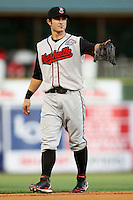 August 10, 2009: Adam Heether of the Nashville Sounds, Pacific Cost League Triple A affiliate of the Milwaukee Brewers, during a game at the Spring Mobile Ballpark in Salt Lake City, UT.  Photo by:  Matthew Sauk/Four Seam Images