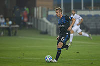 SAN JOSE, CA - SEPTEMBER 13: Jackson Yueill #14 of the San Jose Earthquakes dribbles the ball during a game between Los Angeles Galaxy and San Jose Earthquakes at Earthquakes Stadium on September 13, 2020 in San Jose, California.