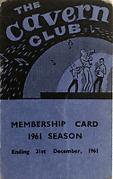 BNPS.co.uk (01202 558833)<br /> Pic: OmegaAuctions/BNPS<br /> <br /> Also in the auction - a 1961 Cavern Club membership card.<br /> <br /> From Me To You - Fascinating business cards chart the earliest days of the Fab Four.<br /> <br /> Meet The Beatles - Three business cards that chart the evolution of the Beatles from fledgling teenagers have emerged for sale for £6,000.<br /> <br /> The first card dates to 1957 when John Lennon, Paul McCartney and George Harrison were in a band called The Quarry Men along with Lennon's best mate Pete Shotton.<br /> <br /> They started off as a Country, Western, Rock 'n' Roll and Skiffle act and had the cards professionally made while they looked for gigs in their native Liverpool.<br /> <br /> By the time The Quarry Men had their second set of business cards printed in 1958 they had dropped the Country  Western element to their act.<br /> <br /> And a third card printed in 1960 shows how the band had changed their name The Beatles and had a new manager, Alun Williams.