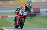 Shane Byrne of Be Wiser Ducati Racing Team during warm up for race two of the MCE British Superbikes in Association with Pirelli round 12 2017 - BRANDS HATCH (GP) at Brands Hatch, Longfield, England on 15 October 2017. Photo by Alan  Stanford / PRiME Media Images.