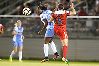 Boyds, MD - Saturday April 29, 2017: Nichelle Prince, Whitney Church during a regular season National Women's Soccer League (NWSL) match between the Washington Spirit and the Houston Dash at Maureen Hendricks Field, Maryland SoccerPlex. The Dash won 1-0.