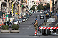 """Via dei Fori Imperiali.<br /> <br /> Rome, 12/03/2020. Documenting Rome under the Italian Government lockdown for the Outbreak of the Coronavirus (SARS-CoV-2 - COVID-19) in Italy. On the evening of the 11 March 2020, the Italian Prime Minister, Giuseppe Conte, signed the March 11th Decree Law """"Step 4 Consolidation of 1 single Protection Zone for the entire national territory"""" (1.). The further urgent measures were taken """"in order to counter and contain the spread of the COVID-19 virus"""" on the same day when the WHO (World Health Organization, OMS in Italian) declared the coronavirus COVID-19 as a pandemic (2.).<br /> ISTAT (Italian Institute of Statistics) estimates that in Italy there are 50,724 homeless people. In Rome, around 20,000 people in fragile condition have asked for support. Moreover, there are 40,000 people who live in a state of housing emergency in Rome's municipality.<br /> March 11th Decree Law (1.): «[…] Retail commercial activities are suspended, with the exception of the food and basic necessities activities […] Newsagents, tobacconists, pharmacies and parapharmacies remain open. In any case, the interpersonal safety distance of one meter must be guaranteed. The activities of catering services (including bars, pubs, restaurants, ice cream shops, patisseries) are suspended […] Banking, financial and insurance services as well as the agricultural, livestock and agri-food processing sector, including the supply chains that supply goods and services, are guaranteed, […] The President of the Region can arrange the programming of the service provided by local public transport companies […]».<br /> Updates: on the 12.03.20 (6:00PM) in Italy there 14.955 positive cases; 1,439 patients have recovered; 1,266 died.<br /> <br /> Footnotes & Links:<br /> Info about COVID-19 in Italy: http://bit.do/fzRVu (ITA) - http://bit.do/fzRV5 (ENG)<br /> 1. March 11th Decree Law http://bit.do/fzREX (ITA) - http://bit.do/fzRFz (ENG)<br /> 2. http://bit.do/fzRKm"""