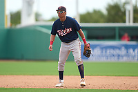 FCL Twins first baseman Alexander Pena (13) during a game against the FCL Red Sox on August 7, 2021 at JetBlue Park at Fenway South in Fort Myers, Florida.  (Mike Janes/Four Seam Images)