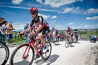 """Harm Vanhoucke (BEL/Lotto Soudal)<br /> <br /> 104th Giro d'Italia 2021 (2.UWT)<br /> Stage 11 from Perugia to Montalcino (162km)<br /> """"the Strade Bianche stage""""<br /> <br /> ©kramon"""