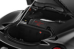 Car stock 2018 Alfa Romeo 4C Base 2 Door Coupe engine high angle detail view