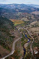 aerial photograph Russian River Sonoma County, California