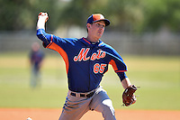 New York Mets pitcher Jimmy Duff (65) during a minor league spring training game against the St. Louis Cardinals on April 1, 2015 at the Roger Dean Complex in Jupiter, Florida.  (Mike Janes/Four Seam Images)