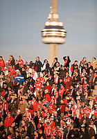 17 October 2009: A sellout crowd at BMO Field during an MLS game between Toronto FC and Real Salt Lake at BMO Field in Toronto..Toronto FC won 1-0..