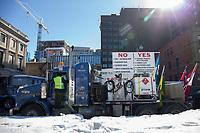 manifestation de Gilets Jaunes<br /> , le 19 fevrier 2019, devant le Parlement a Ottawa<br /> <br /> <br /> PHOTO : Agence Quebec Presse