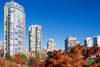 Autumn Colours at David Lam Park in Yaletown along False Creek, City of Vancouver, British Columbia, Canada