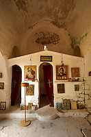 Interior of Ayios Ioannis, Paliachora,  Aegina, Greek Saronic Islands