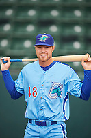 Jon Littell (48) of the Ogden Raptors before the game against the Orem Owlz at Lindquist Field on June 20, 2019 in Ogden, Utah. The Owlz defeated the Raptors 11-8. (Stephen Smith/Four Seam Images)