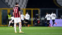 Zlatan Ibrahimovic of AC Milan looks dejected during the Serie A football match between Spezia Calcio and AC Milan at Spezia stadium in Spezia (Italy), February 13th, 2021. Photo Image Sport / Insidefoto