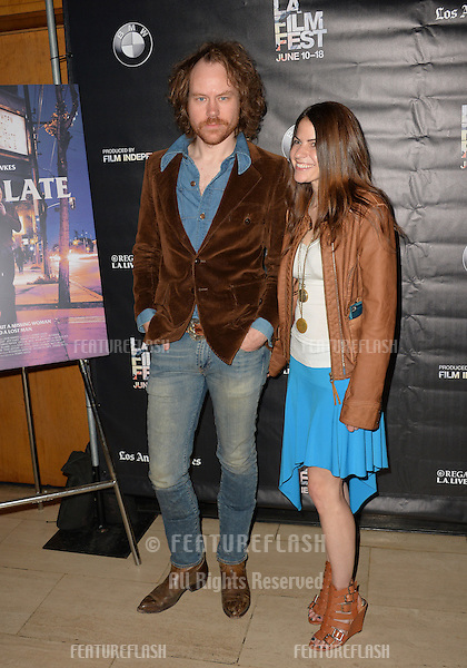 """Director Dennis Hauck & wife at the premiere of """"Too Late"""", part of the LA Film Festival, at the Bing Theatre at LACMA.<br /> June 11, 2015  Los Angeles, CA<br /> Picture: Paul Smith / Featureflash"""