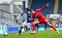 Nottingham Forest's Nicholas Ioannou battles with Blackburn Rovers' Tyrhys Dolan<br /> <br /> Photographer Alex Dodd/CameraSport<br /> <br /> The EFL Sky Bet Championship - Blackburn Rovers v Nottingham Forest - Saturday 17th October 2020 - Ewood Park - Blackburn<br /> <br /> World Copyright © 2020 CameraSport. All rights reserved. 43 Linden Ave. Countesthorpe. Leicester. England. LE8 5PG - Tel: +44 (0) 116 277 4147 - admin@camerasport.com - www.camerasport.com