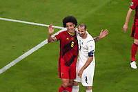 2nd July 2021; Allianz Arena, Munich, Germany; European Football Championships, Euro 2020 quarterfinals, Belgium versus Italy; axel witsel, Belgium and giorgio chiellini, (ita) see the funny side of grappling