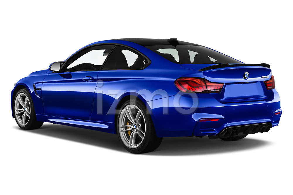 Car pictures of rear three quarter view of a 2018 BMW M4 M4 CS 2 Door Coupe angular rear