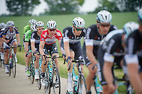race leader Tony Martin (DEU/OPQS) escorted in the peloton by his teammates, on his way to a 3rd consecutive overal win of the Tour of Belgium (Baloise Belgium Tour)<br /> <br /> 2014 Belgium Tour<br /> (final) stage 5: Oreye - Oreye (179km)