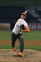 Ian Anderson (33) of the East team pitches during the 2015 Perfect Game All-American Classic at Petco Park on August 16, 2015 in San Diego, California. The East squad defeated the West, 3-1. (Larry Goren/Four Seam Images)